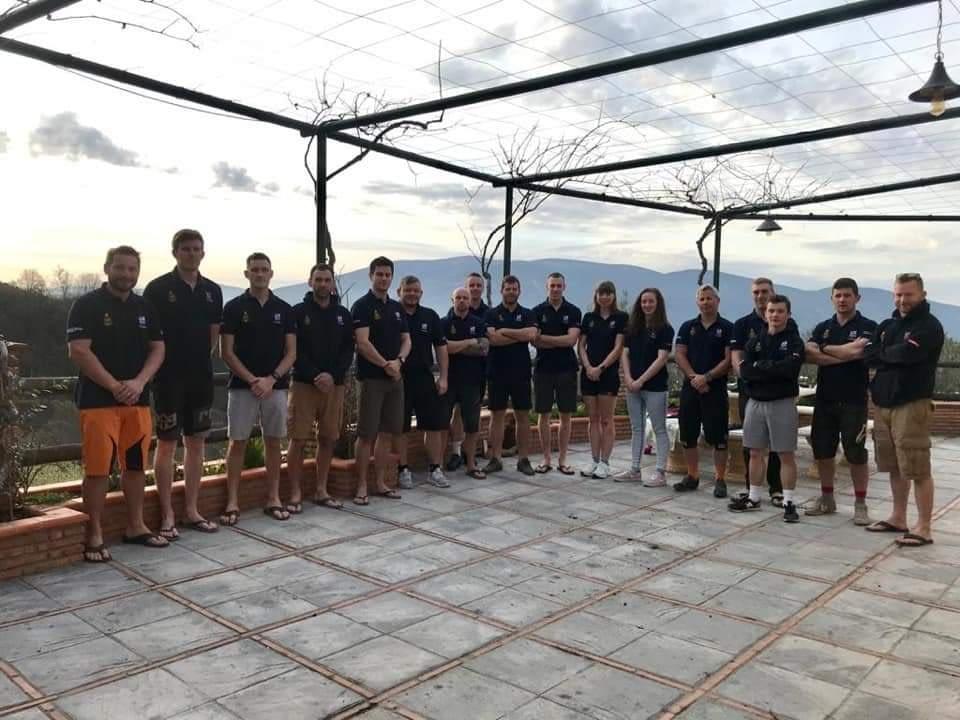 Royal Navy & Marines Cycling Club group photo